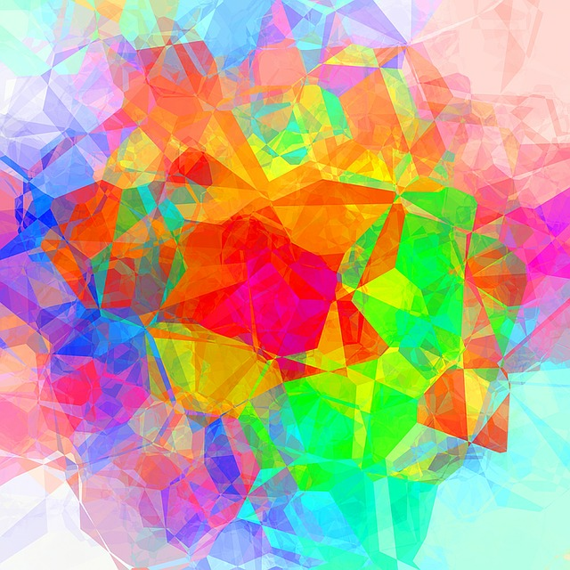 Orange Color Wallpaper Hd Free Illustration Colorful Abstract Polygon Free