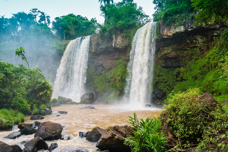 Iguazu Falls Wallpaper 1920x1200 Waterfall Water Waterfalls 183 Free Photo On Pixabay