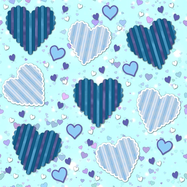 Cute Baby Photos Free Wallpapers Free Illustration Hearts Pattern Paper Wallpaper
