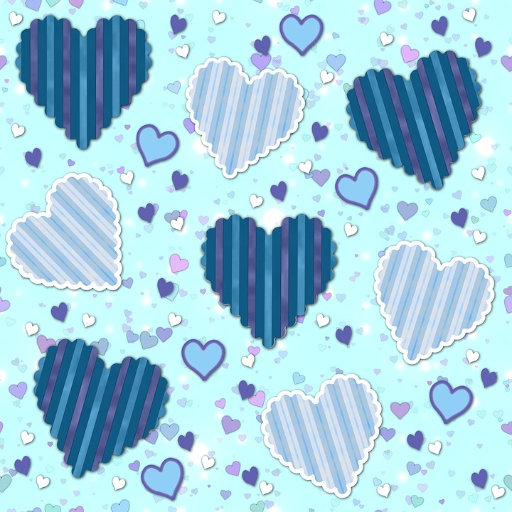 Child Wallpaper Hd Free Illustration Hearts Pattern Paper Wallpaper
