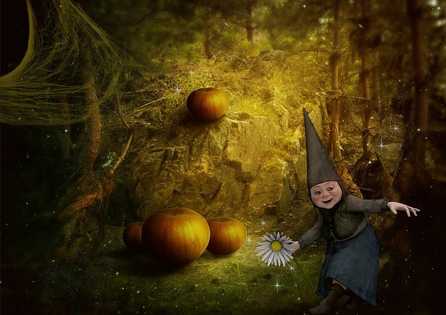 Wallpaper Hd Portrait Orientation Free Illustration Gnome Fantasy Forest Young Free