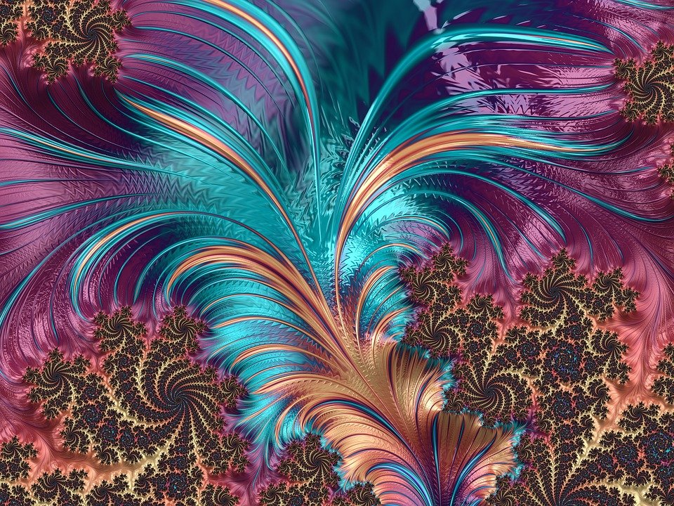 Wallpaper Keren 3d Hd Android Free Illustration Feather Fractal Artistic Design