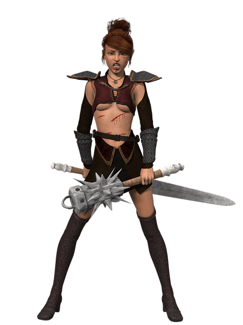 Ninja Warrior Wallpaper 3d Free Illustration Woman Warrior Amazone Heroine Free