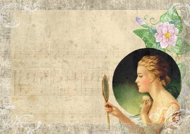 Girl Illustration Wallpaper Free Illustration Vintage Lady Mirror Dancing Free