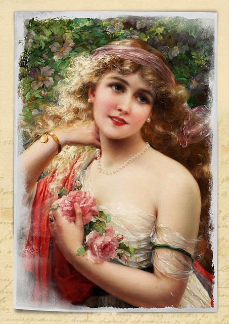 Vintage Bilder Free Illustration: Vintage, Woman, Art, Collage, Roses ...