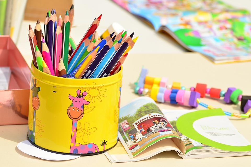 色鉛筆とお絵かきセット