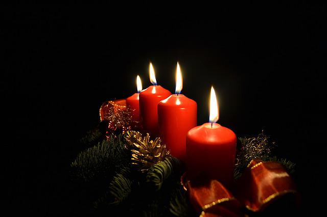 Free Xmas Wallpapers Animated Free Photo Advent Candles Light Christmas Free Image