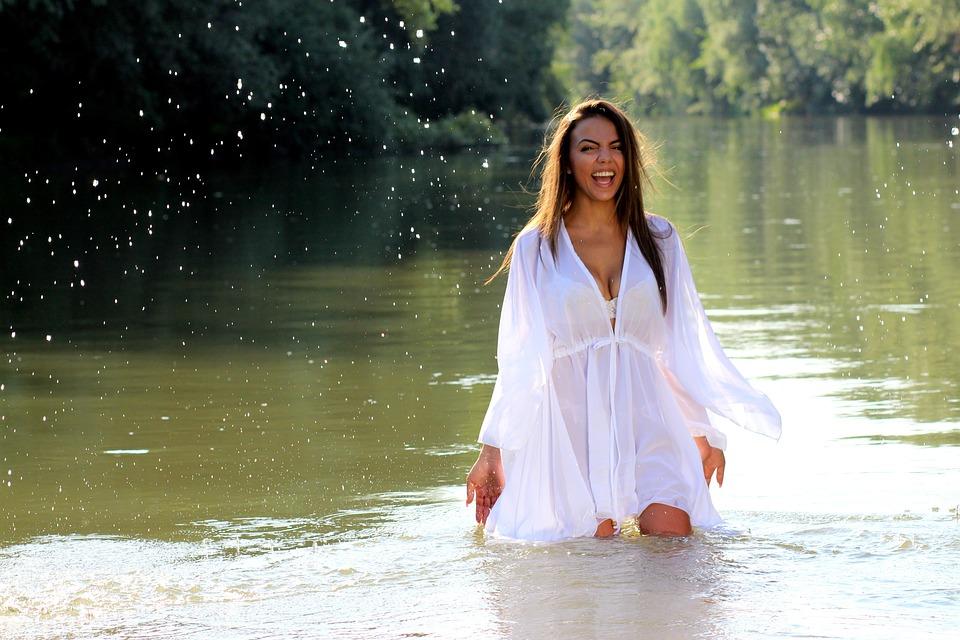 Beautiful Indian Girl Face Wallpaper Free Photo Girl Water Dress White Nature Free Image