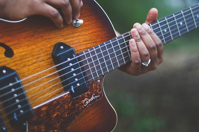 Girl 4k Wallpaper Free Photo Guitar Musician Music Instrument Free