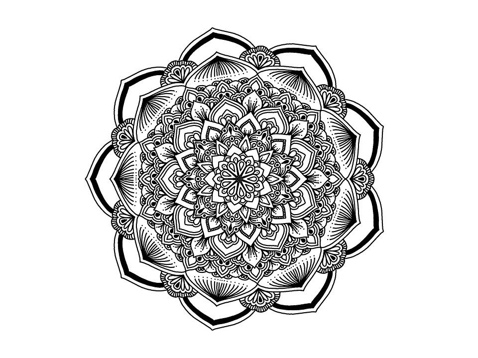 Cute Drawing Wallpaper Free Illustration Mandala Black And White Zendala