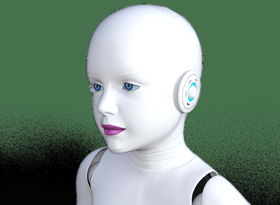 Nice Girl Wallpaper Hd Illustration Gratuite Robot Jeune Fille Modernes