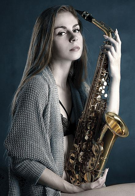 Girls Hd Wallpaper Free Photo Saxophone Girl Portrait Playing Free
