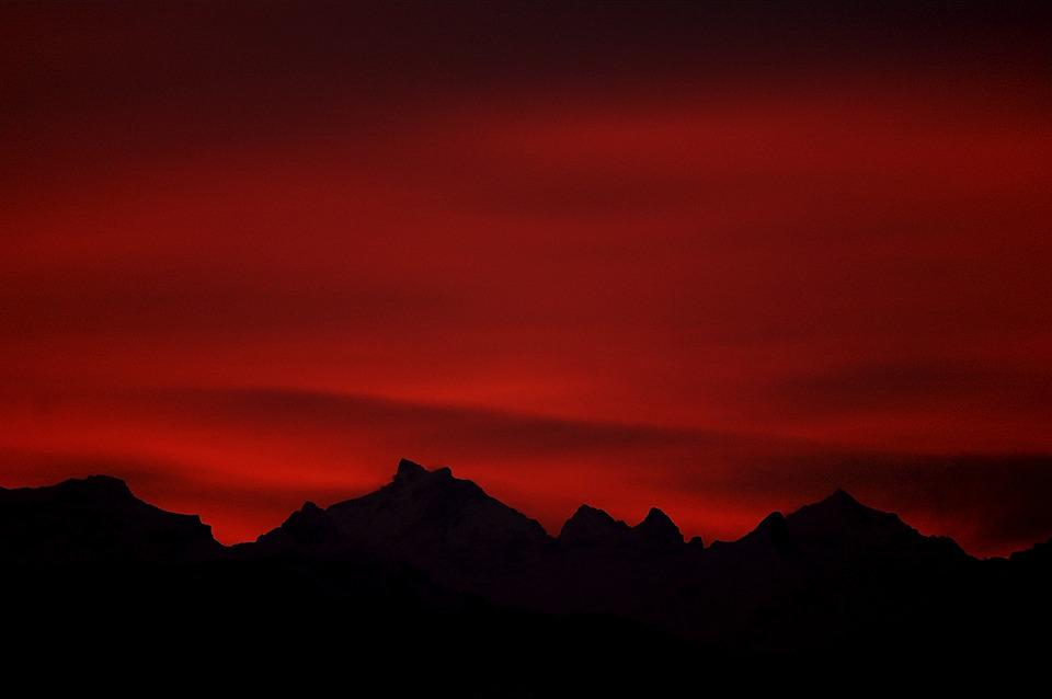 Dark Clouds Hd Wallpaper Free Photo Morgenrot Red Sky Dawn Mood Free Image