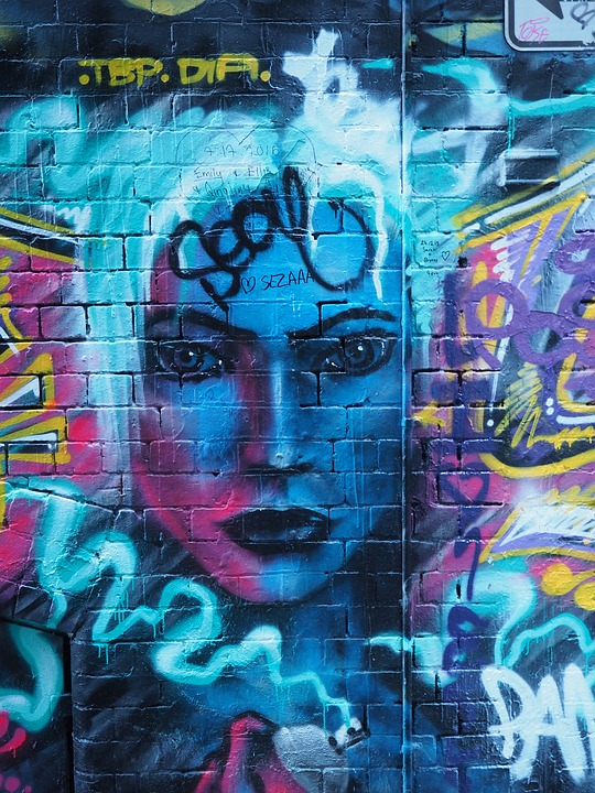Flower Girl Wallpaper Download Free Photo Graffiti Melbourne Face Laneway Free