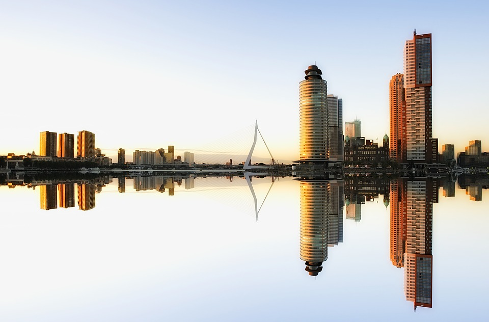 Wallpaper Hd 1080p Free Download Skyline Rotterdam Architectuur 183 Gratis Foto Op Pixabay