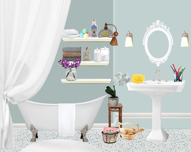 Girl Baby Shower Wallpaper Bath Bathroom Flower Pots 183 Free Image On Pixabay