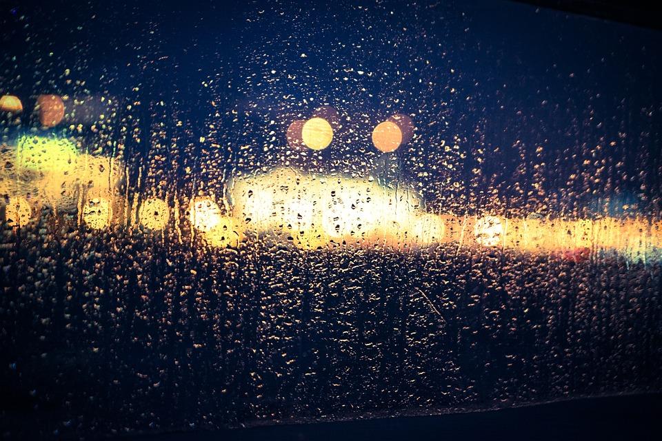 Wallpaper Falling Water Free Photo Bokeh Rain Glass Window Blur Free Image