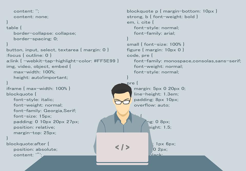 プログラミングするイラスト