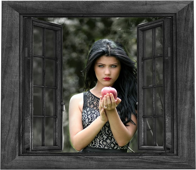 Black And Red Wallpaper Hd Free Illustration Girl Window Outside Apple Free