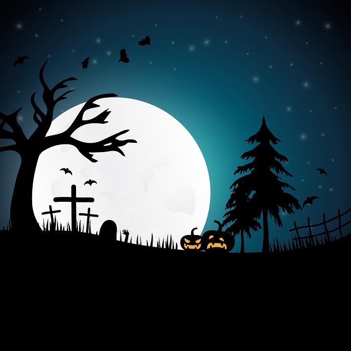 Fall Scenery Wallpapers Free Free Illustration Halloween Night Creepy Moonlight