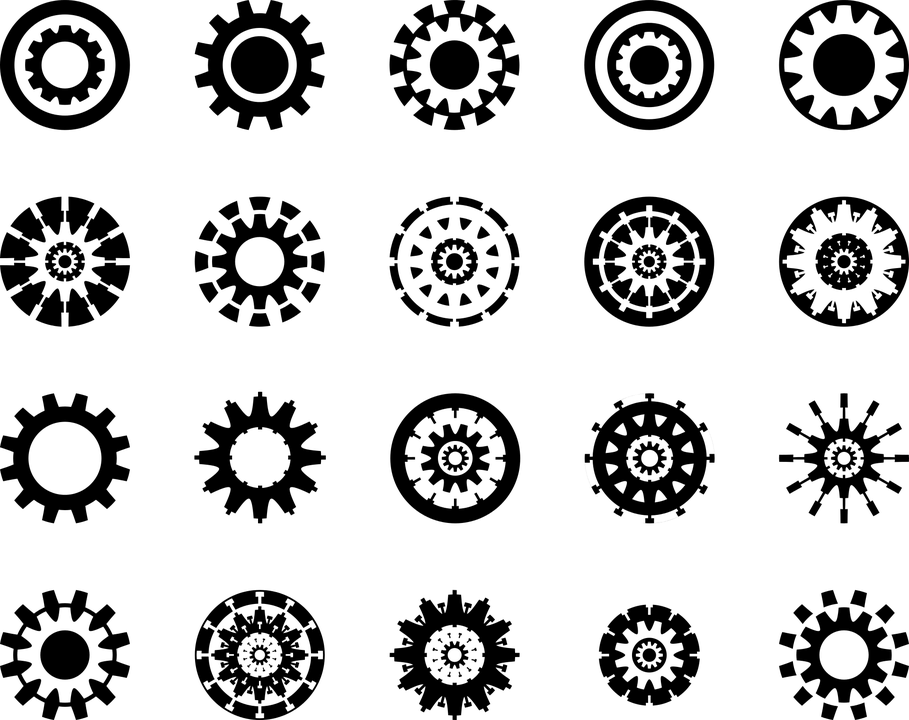 Wallpaper Design Black Gear Wheel Icon 183 Free Vector Graphic On Pixabay