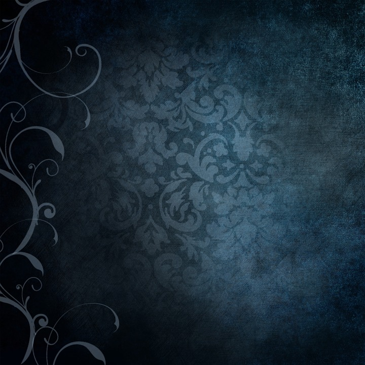 Wallpaper Black And White Damask Free Illustration Background Blue Victorian Free