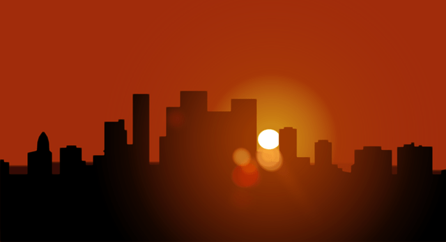 Beautiful Girl Wallpaper Pictures Download Sunset Silhouette Big City Evening 183 Free Vector Graphic