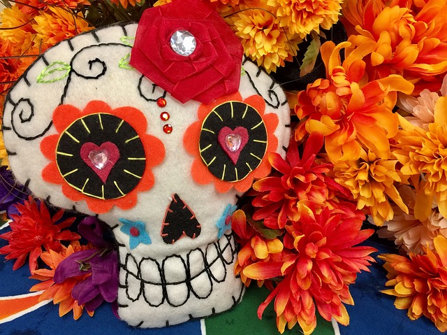 Cute Child Couple Wallpaper Hd Skull Day Of The Dead Marigold 183 Free Photo On Pixabay