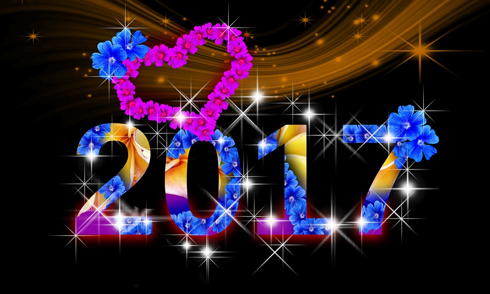 Good Morning Animation Wallpaper Free Illustration New Year S Eve 2017 Date Flowers