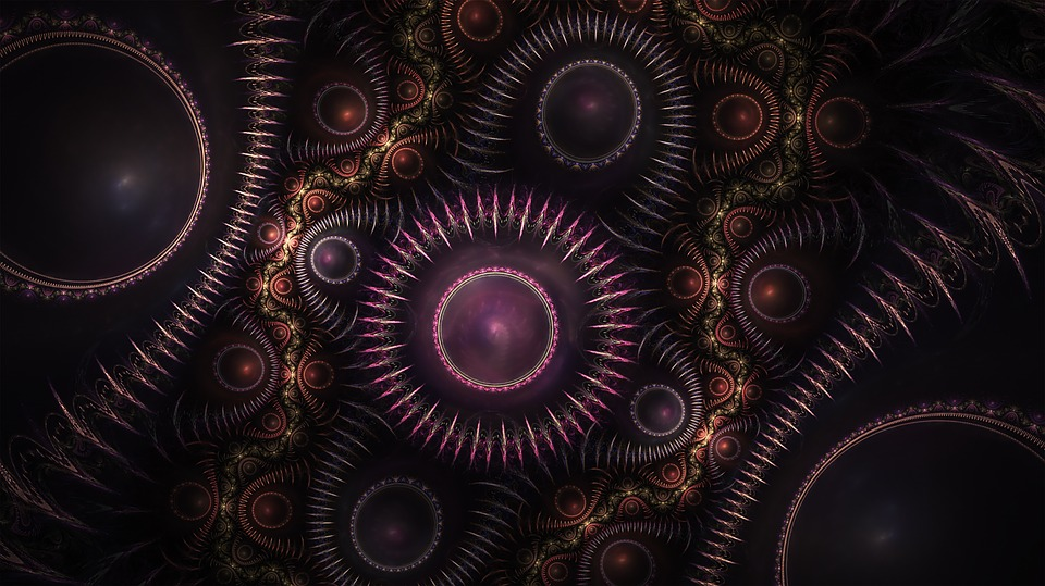 Wallpaper Black Design Free Illustration Fractal Gears Steampunk Free Image