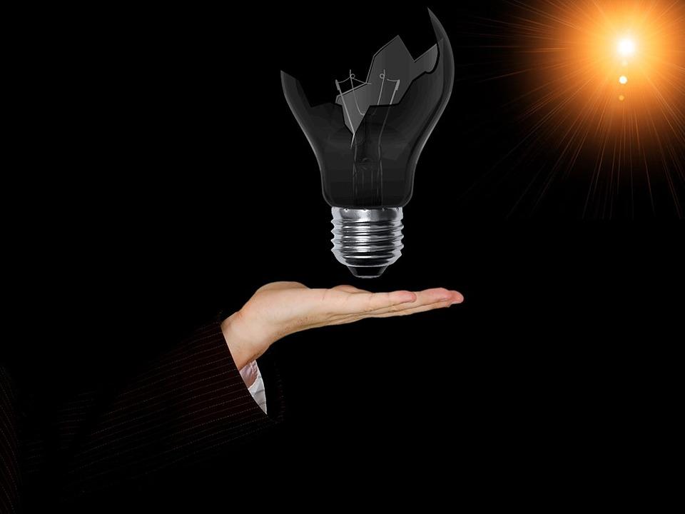 Electric Blue Wallpaper Hd Free Illustration Lamp Bulb Broken Bulb Idea Free