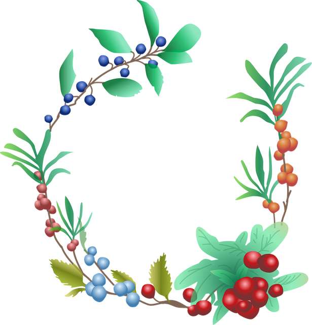 Fall Feather Wallpaper Berries Fruit Garland 183 Free Vector Graphic On Pixabay