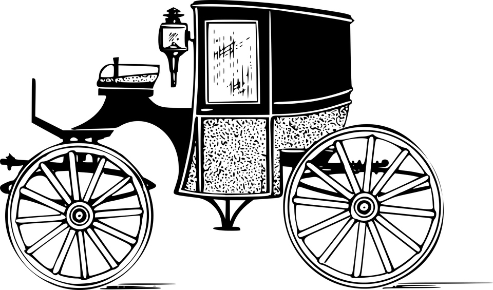Wallpaper Black And White Girl Brougham Carriage Horse 183 Free Vector Graphic On Pixabay