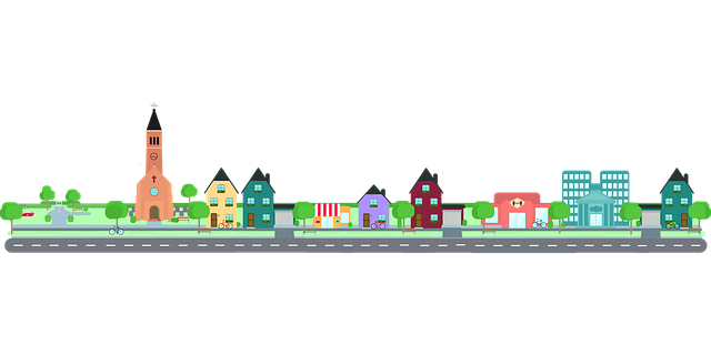 Background Hd Wallpaper Girl Free Vector Graphic City Road Community Building