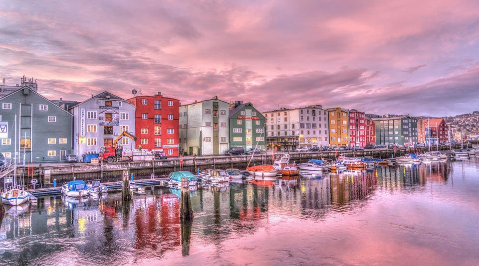 Desktop Wallpaper Fall Water Free Photo Trondheim Norway Sunrise River Free Image