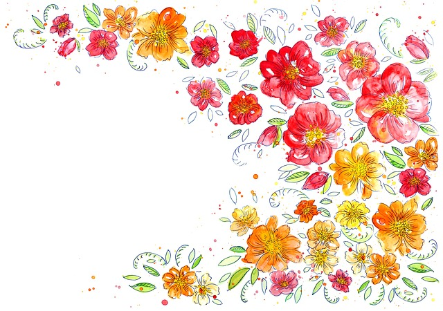 Pink Fall Wallpaper Hd Background Flowers Watercolor 183 Free Image On Pixabay