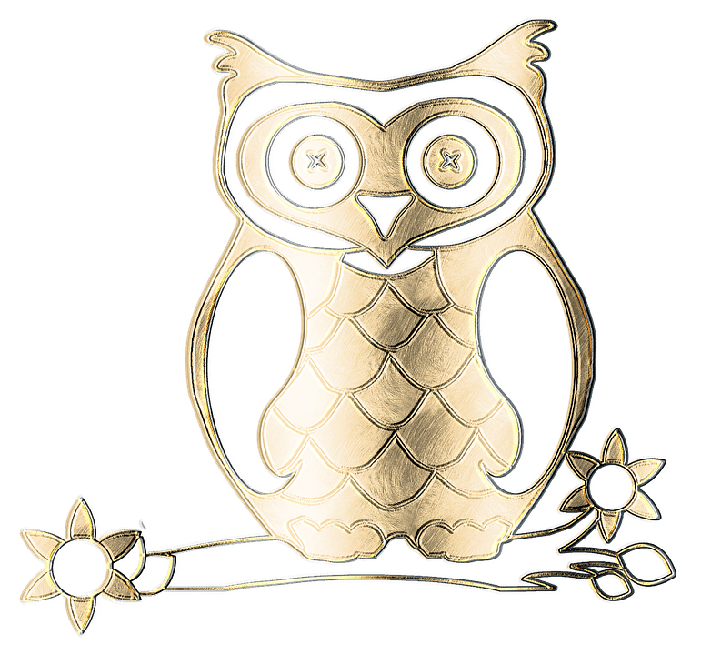 Cute Cartoon Angel Wallpaper Free Illustration Owl Metal Gold Texture Graphic