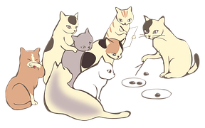 Download Wallpaper Cute Cat Free Vector Graphic Teachers Meeting Books Reading