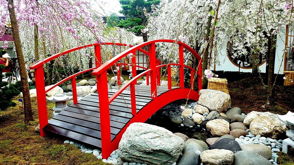 Japan Hd Wallpaper Pont Fleurs De Cerisier Paysage 183 Photo Gratuite Sur Pixabay