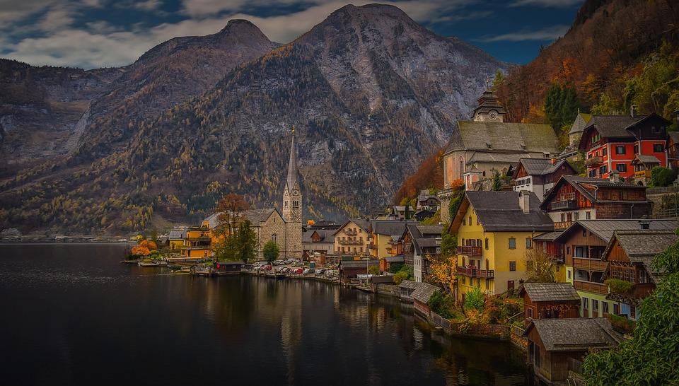 Hd Wallpaper Girl Christmas Hallstatt Austria Lake 183 Free Photo On Pixabay