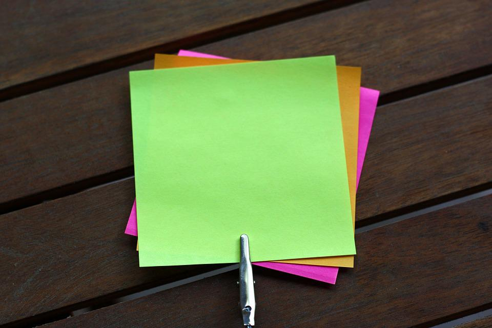 Sticky Notes Blank Note · Free photo on Pixabay - stickey notes