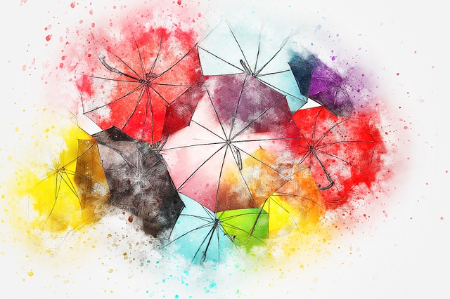 Abstract Girl Face Wallpaper Umbrella Colorful Art 183 Free Image On Pixabay