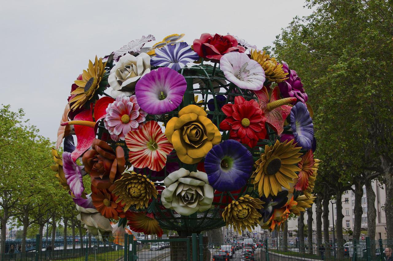Flower Ball Lyon Deco Free Photo On Pixabay - Deco Lyon