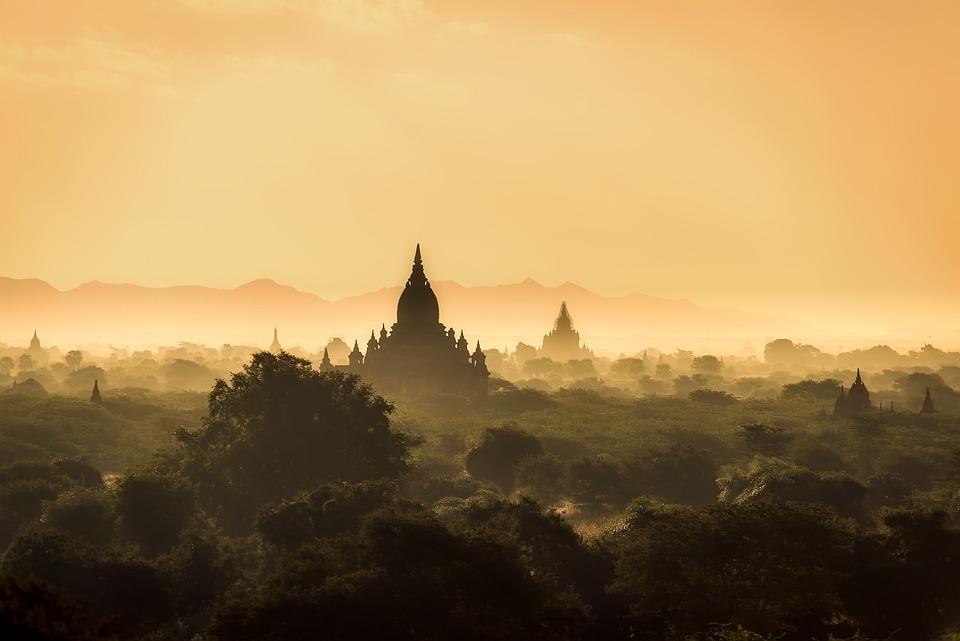Fall Sunrise Wallpaper Myanmar Burma Landscape 183 Free Photo On Pixabay