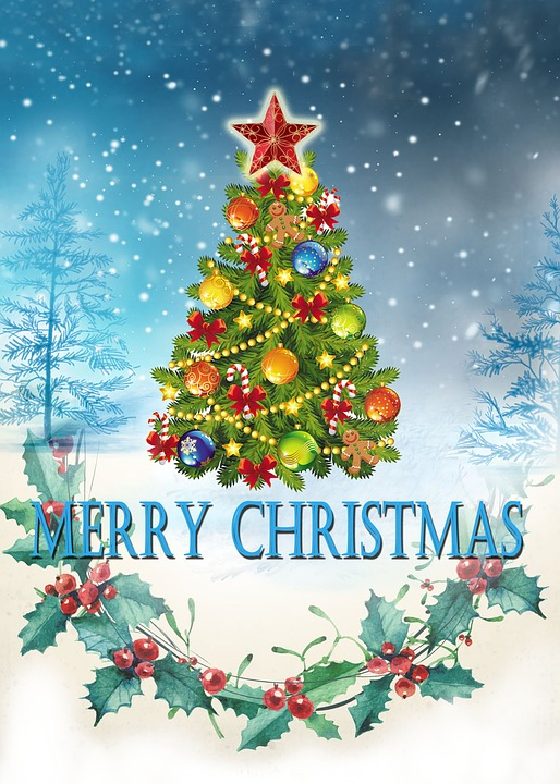 Merry Christmas Card Happy · Free image on Pixabay