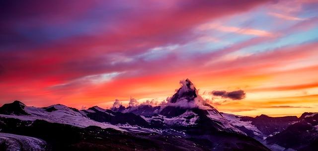 Fall Mountains Hd Wallpaper Pictures Matterhorn Mountains Sunset 183 Free Photo On Pixabay
