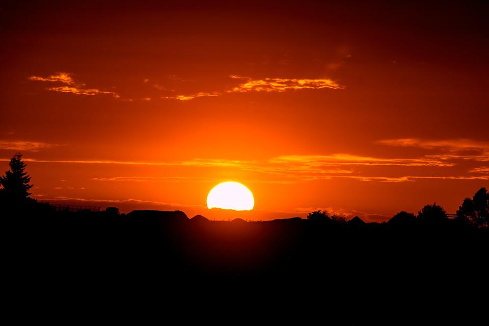 Sunset Sun Setting Free Photo On Pixabay