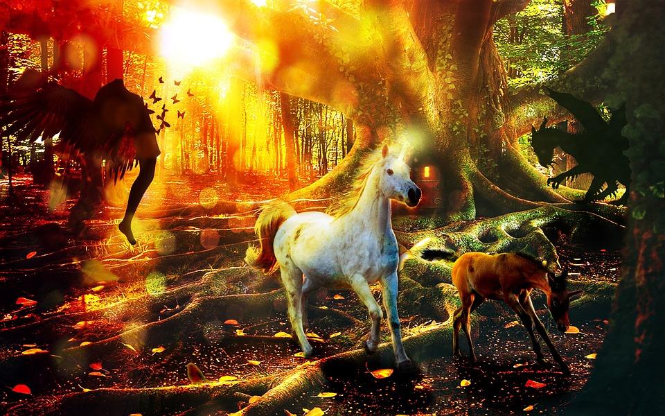 Lord Narayana Hd Wallpapers Fantasy Unicorn Forest 183 Free Photo On Pixabay
