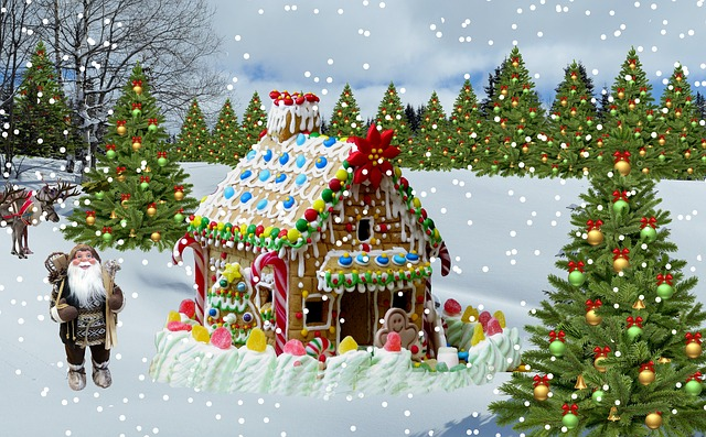 Thomas Kinkade Fall Wallpaper Free Photo Christmas Snow Christmas Tree Free Image