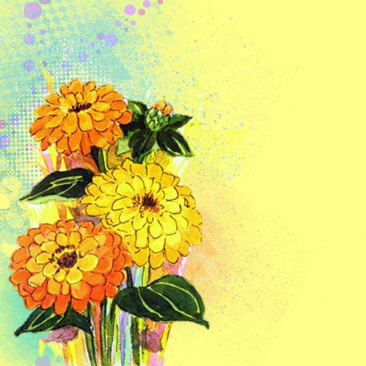 Star Girl Wallpaper Free Illustration Background Flowers Yellow Bright